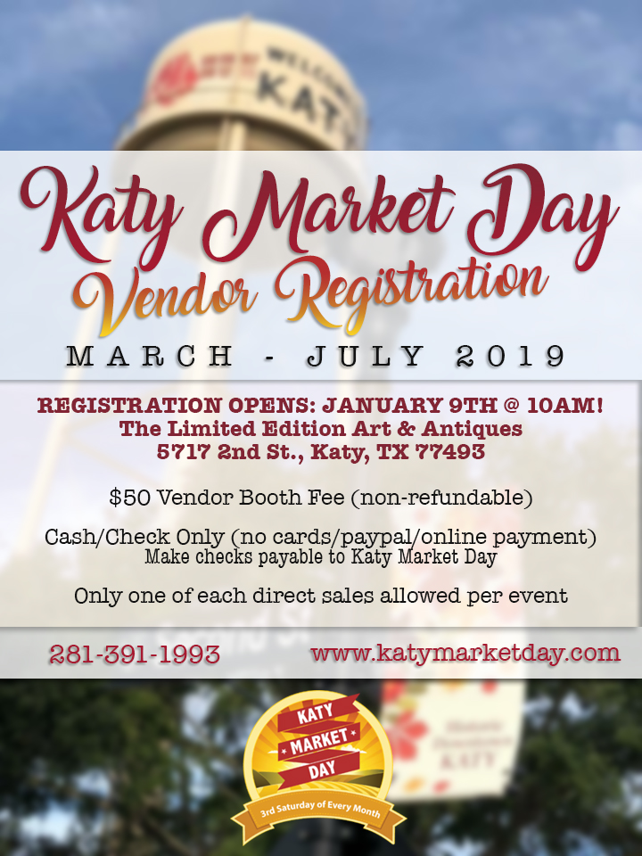 Katy Market Day 3rd Saturday Of Every Month