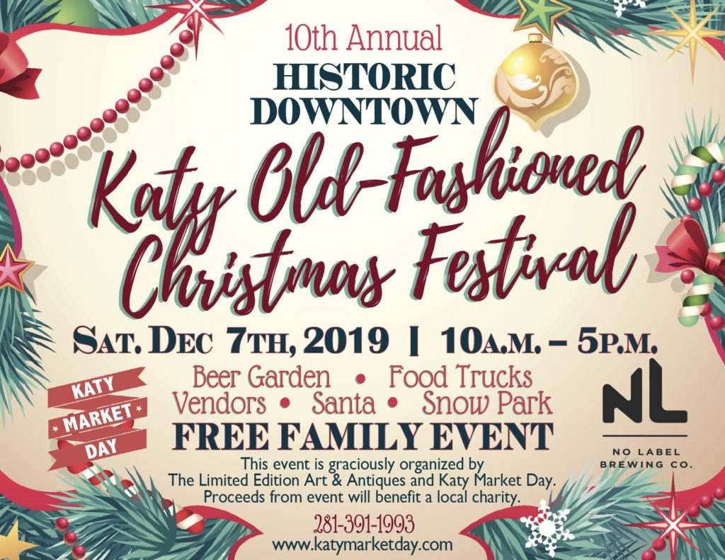 10th Annual Katy Old-Fashioned Christmas Festival Flyer